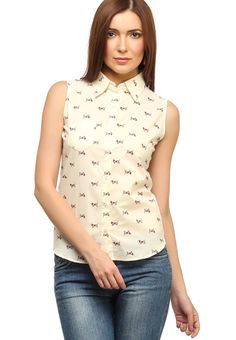 a798bb2d124 Buy Cation Off White Printed Shirt Online - 2934696 - Jabong