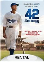 Fiction. DVD. 42: The Jackie Robinson Story. History was made in 1947, when Jackie Robinson broke the professional baseball race barrier to become the first African American MLB player of the modern era. 42 tells the life story of Robinson and his history-making signing with the Brooklyn Dodgers under the guidance of team executive Branch Rickey.