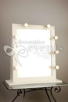 Tri Fold Vanity Mirror With Lights Vintage 3 Tri Fold Barbola Mirror~Vanity Set~Ribbon Frame~Flower Top