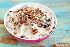 Nutty chocolate chip cookie dough dip