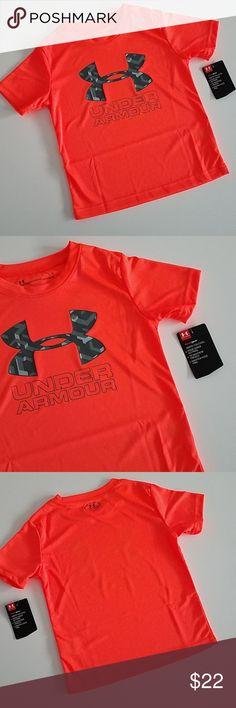 UNDER ARMOUR Little Boy/'s Heatgear Short Sleeve T-Shirt NWT  Size   4