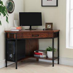 Leick Furniture Ironcraft Corner Computer/Writing Desk   11230