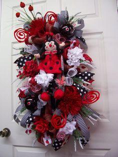 Ladybug WreathLadybug SwagLadybug Swag by CherylsCrafts1 on Etsy