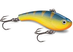 Rapala Slab Rap - lipless crankbait  With quick rod snaps the Slab Rap searches in wide, erratic directions, circling back to center after pause. Lift-drop motion creates subtle vibration on rise, followed by evasive side-to-side motion on the fall. Weight forward design enables a rocking action for triggering negative fish.