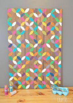 CREATE: geometric flower painting
