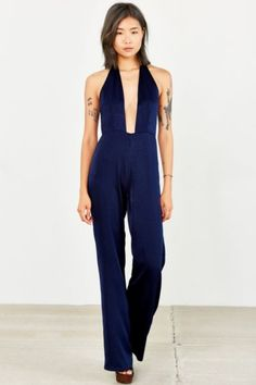 Capulet Halter-Neck Jumpsuit - Urban Outfitters