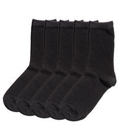 Sjekk ut dette! Finstrikkede sokker i myk bomullsblanding. - Besøk hm.com for å se mer.