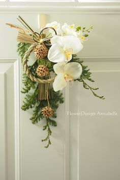 お正月飾りを飾りましょう の画像|Mikan can*パリスタイルのフラワースクールAnnabelle の Flower blog Ikebana Flower Arrangement, Floral Arrangements, Christmas Diy, Christmas Wreaths, Christmas Decorations, Art Floral, Floral Design, Decor Crafts, Diy And Crafts