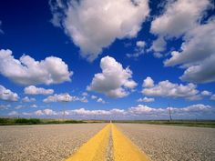Photo: View of a sky and road