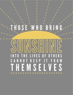 Bring sunshine and happiness to your life and others