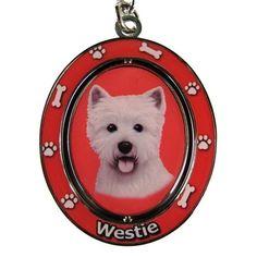 West Highland Terrier Westie Dog Spinning Keychain