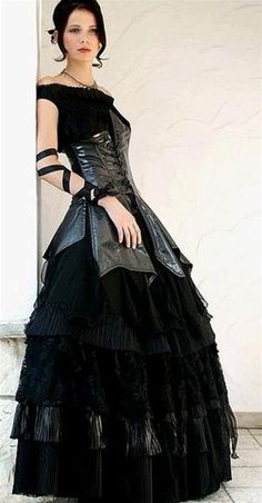 Gothic Punk Fetish Corset-Style Gown by Wedding Dress Fantasy