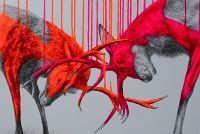 Louise McNaught, mixed media animals. See the owl.