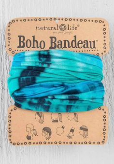 Boho Bandeau Headband - Turquoise Blue - Cordial Lee Boho Headband 4e86f4ab4fd4