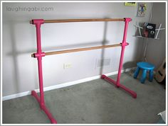 not exactly wanting the pink but how to build your own portable ballet barre...time to get my fitness on