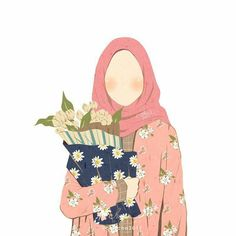 A scarf is the most important piece inside the attire of women together with hijab. Girl Cartoon, Cartoon Art, Cute Cartoon, Hijab Drawing, Islamic Cartoon, Girly M, Hijab Cartoon, Korean Art, Muslim Girls
