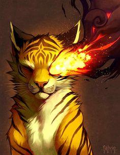 One of the furry art created by Falvie Magical Creatures, Fantasy Creatures, Fantasy Kunst, Fantasy Art, Bastet, Posca Art, Tiger Art, Anime Animals, Warrior Cats