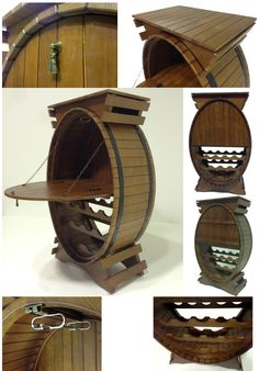 Table Furniture, Furniture Design, Caves, Barrel Projects, Piano Bar, Outdoor Landscaping, Wine Rack, Wood Crafts, Home Decor