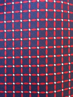 Mens BROOKS BROTHERS 346 Blue Red White Checked Silk Tie Stain Resistant #BrooksBrothers #NeckTie
