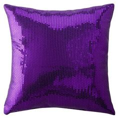 "Xhilaration Sequin Decorative Pillow - Purple (16x16"")"""