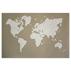 Check out this item at One Kings Lane! Organic Map Elephant Gray 24x36 $39