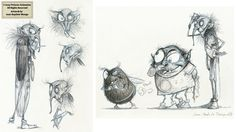 Sony Pictures Animation (2009) - The Villains by Jean-Baptiste Monge, via Behance