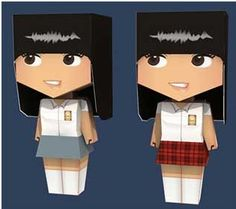 paper toy girl