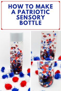 How to Make a Patriotic Sensory Bottle Educational Activities For Kids, Craft Activities For Kids, Stem Activities, Projects For Kids, Learning Resources, Diy For Teens, Diy For Kids, Crafts For Kids, Diy Crafts