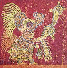 Teotihuacan: Mural sacerdote echando semillas