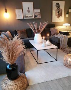 Living Room Decor Cozy, Living Room Modern, Home Living Room, Apartment Living, Living Room Designs, Living Room Candles, Living Spaces, Cozy Apartment, Living Room Inspiration