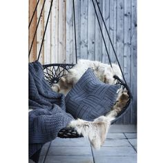 Interiors | Papasan Chair | Linum Cate Throw