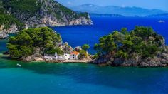 Stunning Blue Ocean and Greek Landscape near Parga in Preveza Region Greece Christian Louboutin, I Love The World, Image Nature, Greece Travel, Nature Pictures, Birds In Flight, Tourism, Beautiful Places, Coast