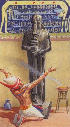 XXI - Le monde - Ramsès : Tarot de l'éternité par Severino Baraldi