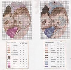 Cross Stitch Mother & Babies Charts