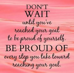 What are you proud of today?