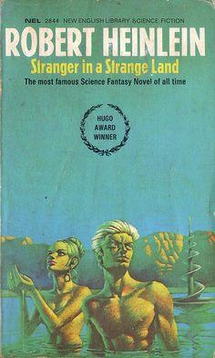 Stranger in a Strange Land by Robert Heinlein. NEL 1971. Cover art Bruce Pennington