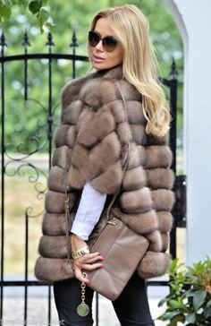 Новый 2016 натуральный русского соболя Тортора полушубок класс пальто норки шиншилы лиса
