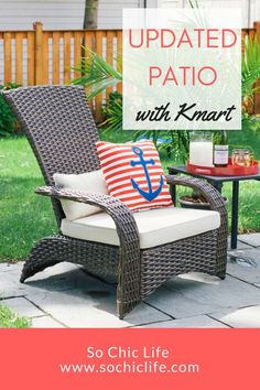 Shopping the Kmart patio furniture selection online was quick and included free shipping.Don�t miss the SummerBlowout Sale to save on clothing, home decor, outdoor furniture, outdoor games and more! www.SoChicLife.com #ad
