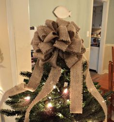 Burlap Christmas Bows Burlap Christmas Decoration