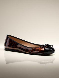 3d5387d803a7 Talbots - Jaden Capped Toe Faux-Patent Ballet Flats
