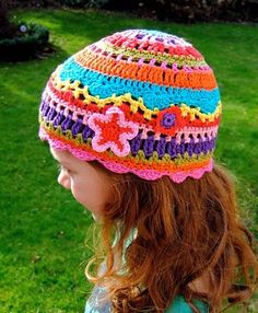 colorful hat, tutorial