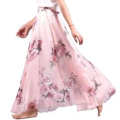 Make your own ensemble now with this lovely skirt. This skirt is elegant and comfortable to wear. Features pleated loose design with lining, ankle length, elast