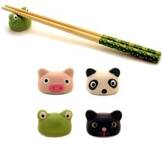 Ceramic animals cooking accesories http://item.rakuten.co.jp/comkids/1e-198/