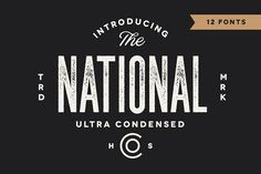 Ultra condensed font on Creative Market. Digital design goods for personal or commercial projects. Graphic design elements and resources. Design Typography, Logo Design, Web Design, Graphic Design, Design Ideas, Type Design, Design Inspiration, Vector Design, Design Projects