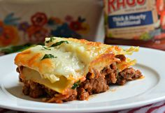 This three cheese meat lasagna is a family favorite and everyone that tries it falls in love instantly. It has three types of cheese and two meats.