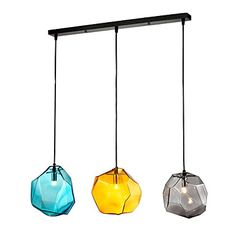 Pendant, 3 Light, Italy Style Transparent Electroplating – USD $ 199.99