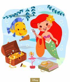 The Little Mermaid first swam ashore on this day in Disney Music, Disney Films, Disney Pixar, Disney Characters, Disney Princesses, Disney Concept Art, Disney Fan Art, Disney Love, Disney Stuff