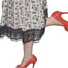 Falda de vuelo en 1 hora Pin Up, Diy Clothes, Lace Skirt, Skirts, Fashion, Flared Skirt, Patterns, Diy Clothing, Moda