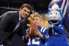 """Bob Kravitz gets Andrew Luck to open up on the beard, his Go phone and what he thinks of Indy"" Indystar (June Tom Moore, Lucas Oil Stadium, Stanford Cardinal, Andrew Luck, Spinal Column, The Minute, Peyton Manning, April 27, Indianapolis Colts"