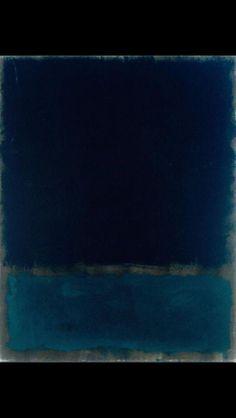 Mark Rothko, Untitled, Navy and Black, 1969